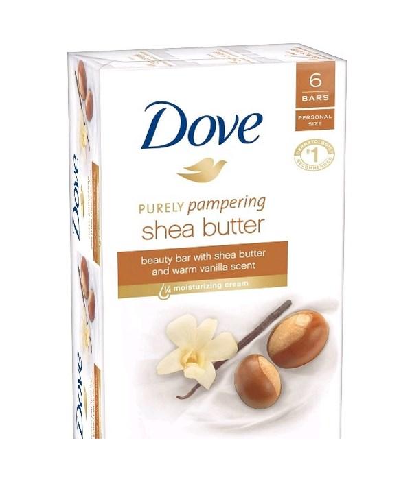 DOVE® BAR SOAP 3.17 OZ - SHEA BUTTER  - 6 X 6PK