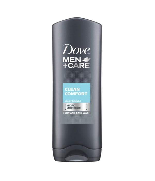 DOVE® BODY WASH 400 ML - MEN'S CLEAN COMFORT - 12/CS