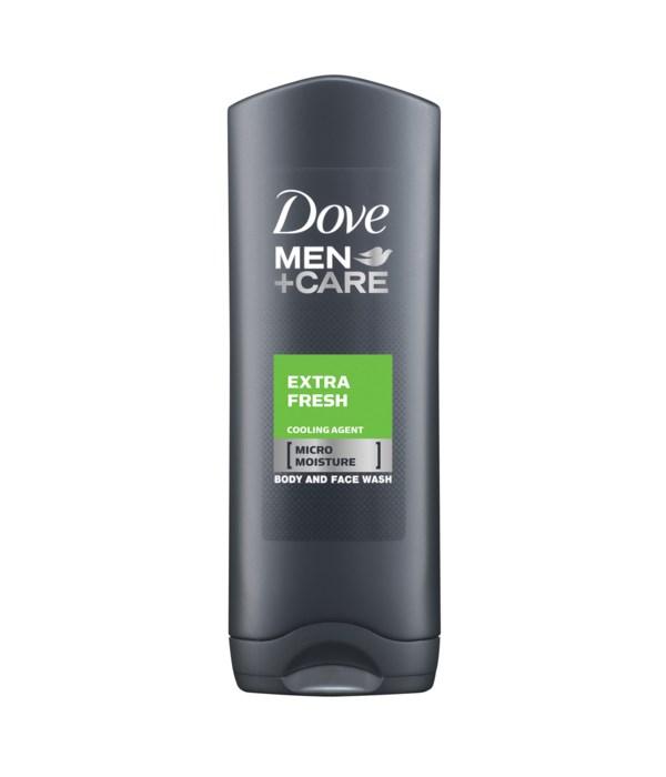 DOVE® BODY WASH 400 ML - MEN'S EXTRA FRESH - 12/CS