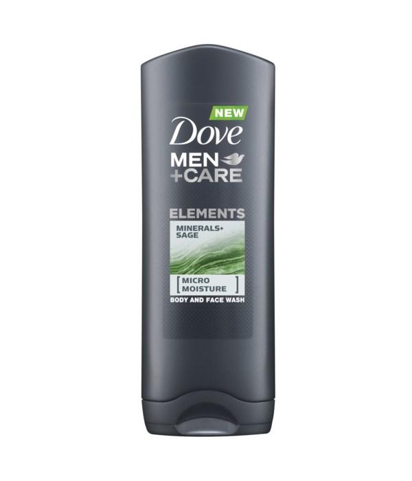 DOVE® BODY WASH 400 ML - MEN'S MINERAL & SAGE - 12/CS