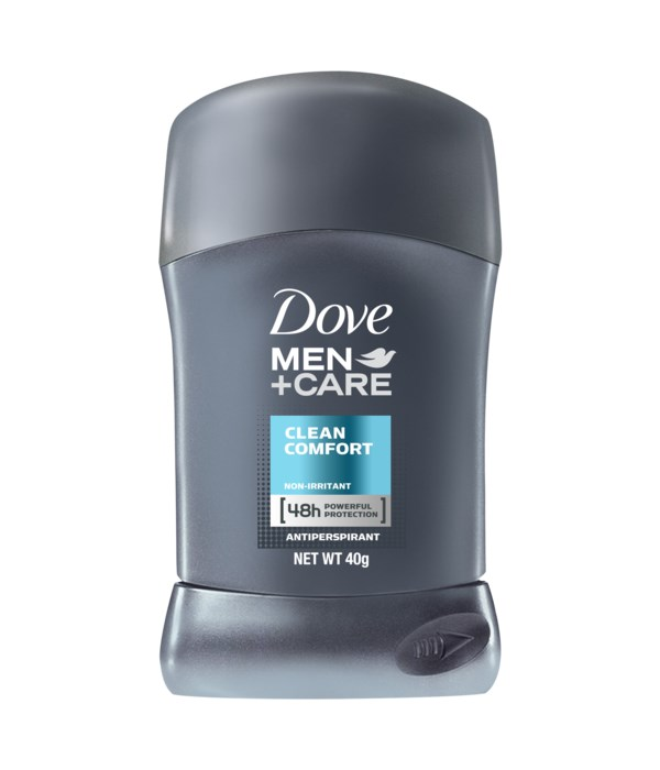DOVE® DEODORANT STICK 40 ML - CLEAN COMFORT (MEN) - 24/CS