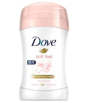 DOVE® DEODORANT STICK 40 ML - SOFT FEEL (WOMEN) - 30/CS