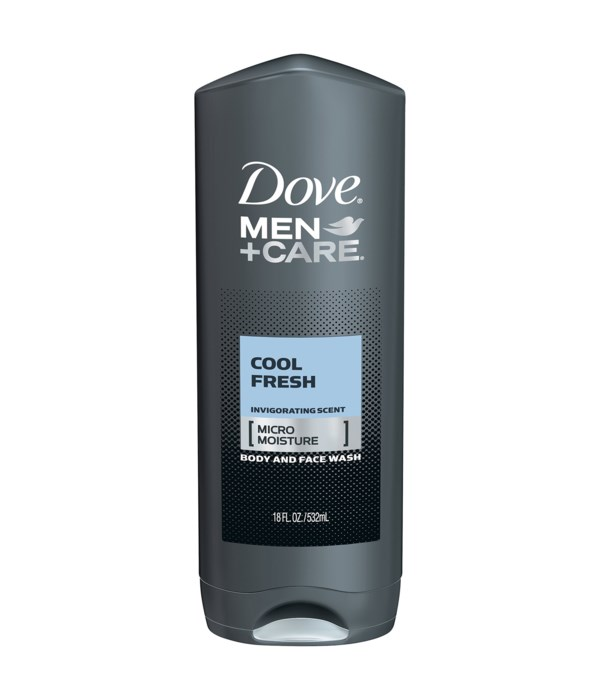 DOVE® BODY WASH 500 ML - COOL FRESH FOR MEN   - 12/CS