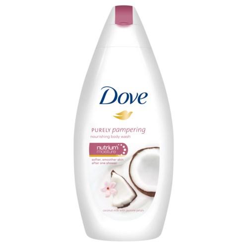 Dove Body Wash 500 Ml Purely Pampering Jasmine Petals Coconut Milk 12 Cs Dove Akr Corporation