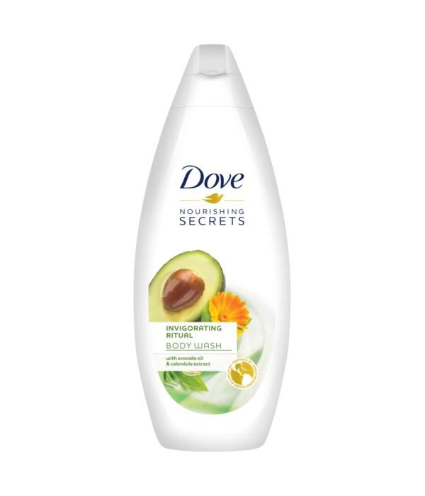 DOVE® BODY WASH 500 ML - INVIGORATING RITUAL (APRICOT)- 12/CS