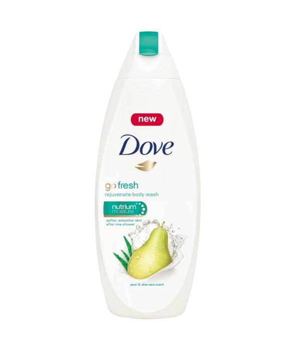 DOVE® BODY WASH 500 ML - GO FRESH PEAR & ALOE - 12/CS
