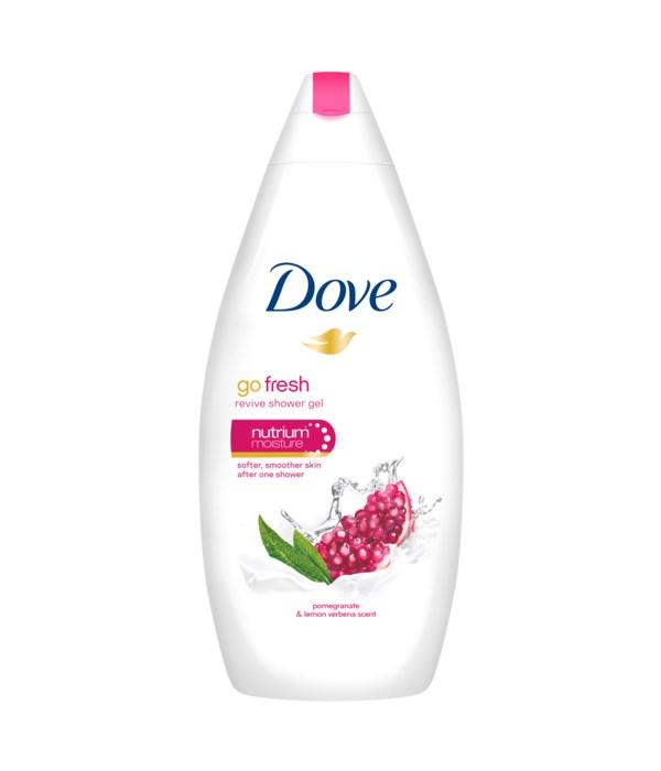DOVE® BODY WASH 500 ML - GO FRESH REVIVE ( POMEGRANATE & LEMON ) - 12/CS