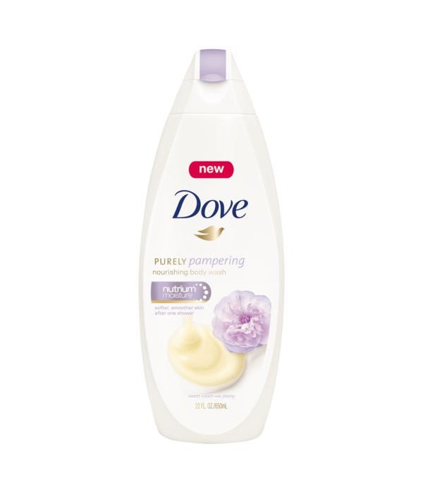 DOVE® BODY WASH 500 ML - SWEET CREAM & PEONY  - 12/CS