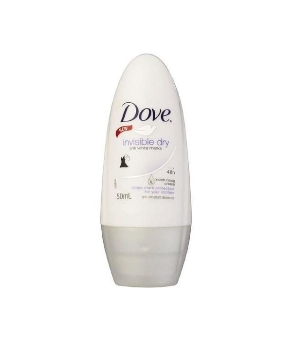 DOVE® DEODORANT ROLL ON 50 ML - INVISIBLE DRY WOMEN -  24/CS