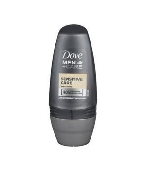 DOVE® DEODORANT ROLL ON 50 ML - SENSITIVE FOR MEN -  24/CS