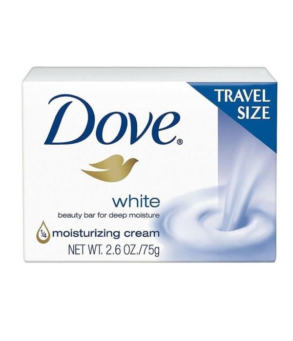 DOVE® BAR SOAP 75 GR (2.6OZ) TRAVEL SIZE - WHITE - 48/CS
