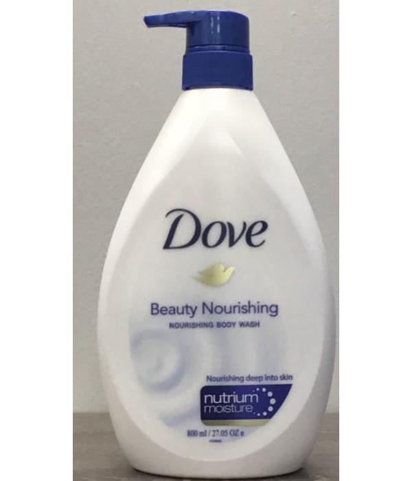 DOVE® BODY WASH 800 ML - BEAUTY  - 12/CS