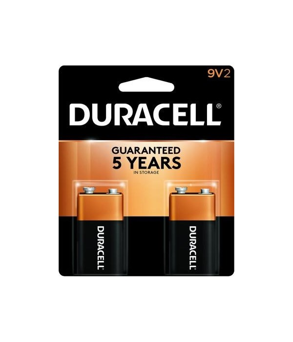 DURACELL® 9V - US - 2PK COPPERTOP 48'S