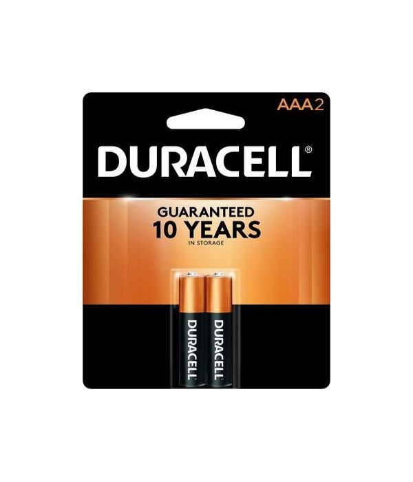 DURACELL® AAA-2PK COPPERTOP (54'S)