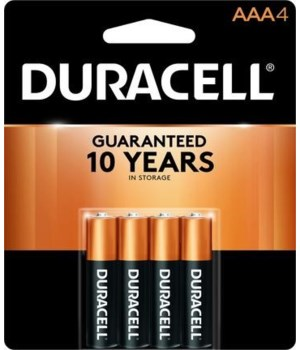 DURACELL® AAA-4PK COPPERTOP (54'S)
