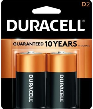 DURACELL® D-2 COPPERTOP USA - 48/CS