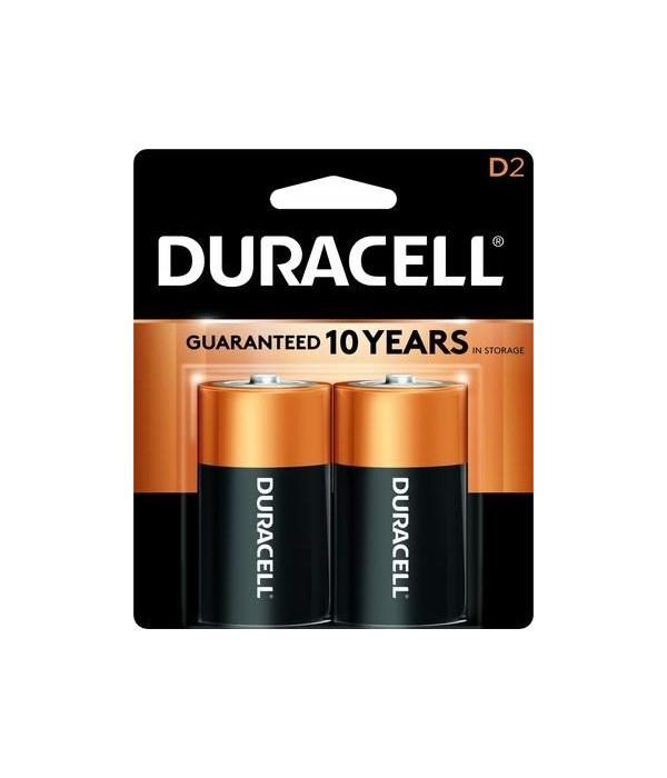 DURACELL® D-2 COPPERTOP USA - 48/CS