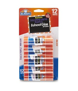 ELMER'S SCHOOL GLUE STICKS - 12 CT - 21PK ( E1559D21)