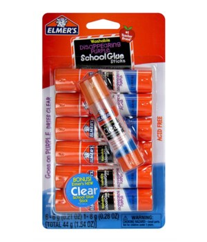 ELMER'S SCHOOL GLUE STICKS - 7 CT - 24PK  ( E4862 )