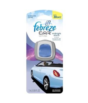 FEBREZE® CAR VENT .06oz - MIDNIGHT STORM - 8/CS (#94728)
