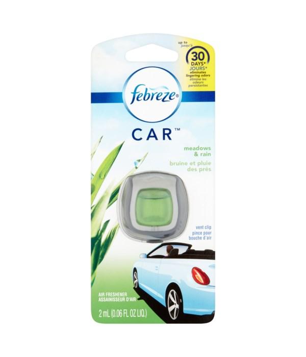 FEBREZE® CAR VENT - MEADOW & RAIN - 8/CS