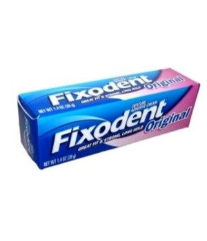 FIXODENT� DENTURE ADHESIVE CREAM ORGINAL 1.4oz- REGULAR - 12/CS