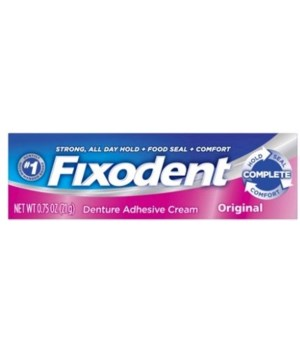 FIXODENT� DENTURE ADHESIVE CREAM 0.75oz ORIGINAL- TRAVEL - 12/UNIT