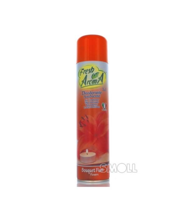 FRESH AROMA® AIR FRESHENER SPRAY 300ml- FLOWER BOUQUET - 24/CS