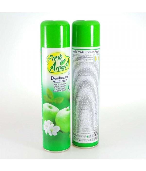 FRESH AROMA® AIR FRESHENER SPRAY 300ml- GREEN APPLE (MELA VERDE)- 24/CS