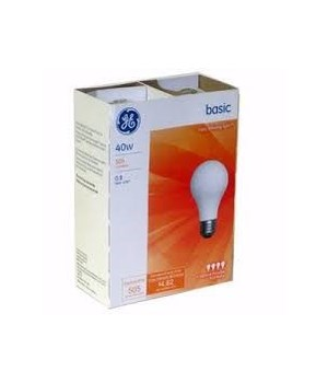 G.E ® LIGHT BULBS 40 W - 12'S  4/CS (13255)