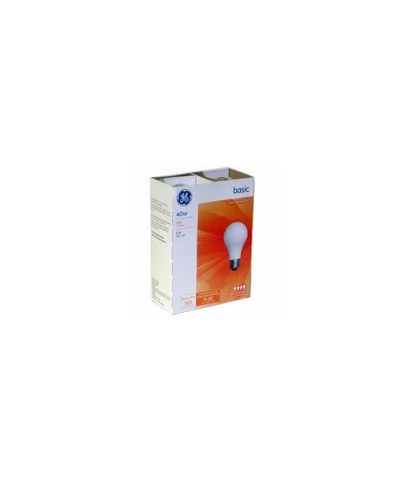 G.E ® LIGHT BULBS 40 W - 12'S  4/CS (13255)
