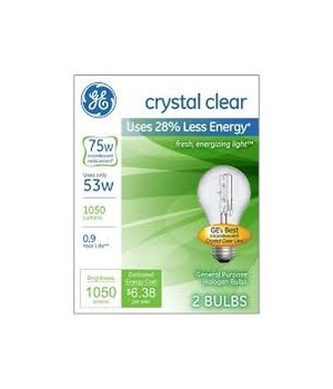 G.E ® LIGHT BULBS 75W - 12'S  4/CS (41030)