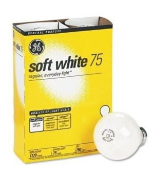 G.E ® LIGHT BULBS 75W SOFT WHITE - 12'S  4/CS (41032)
