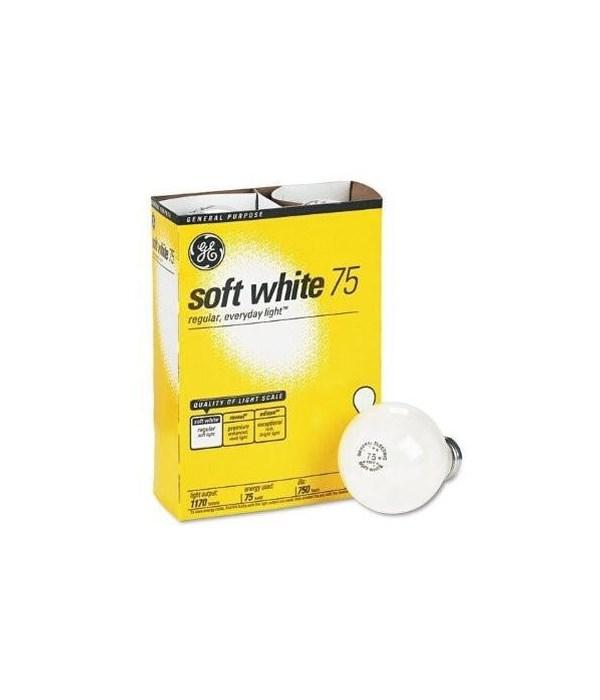 G.E ® LIGHT BULBS 75W SOFT WHITE - 12'S  4/CS (41032)