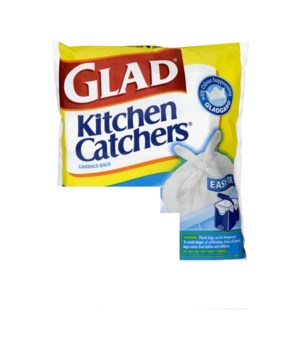 GLAD® GARBAGE BAGS- 12 X 30'S- EASY TIE KITCHEN CATCHERS TALL
