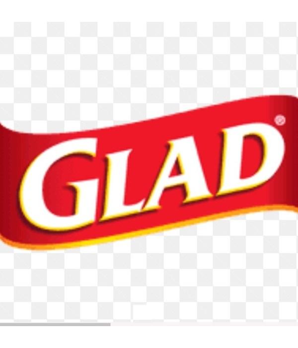 GLAD® ZIPPER FRZ BAG- MED QUART- 9/40CT