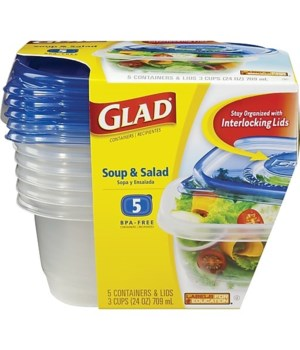 GLADWARE SOUP & SALAD 6/5CT ARGN