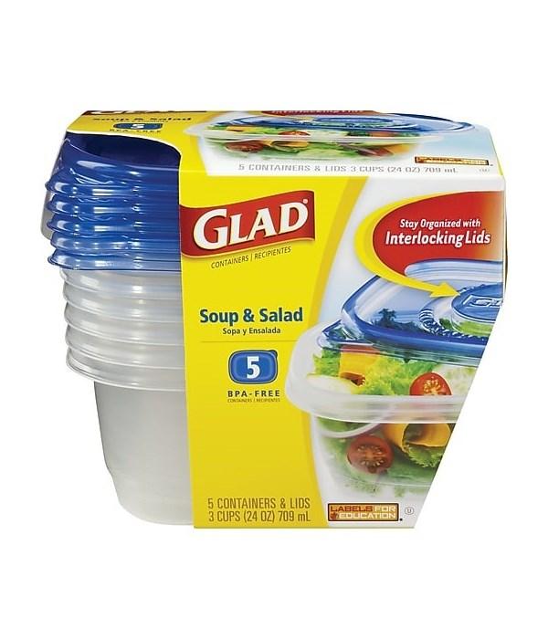 GLADWARE SOUP & SALAD 6/5CT ARGN
