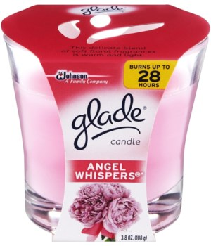 GLADE® 3.4 OZ  CANDLE - ANGEL WHISPERS- 6/CS