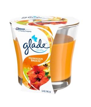 GLADE- 3.4 OZ CANDLE- HAWAIIAN BREEZE- 6/CS