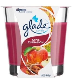 GLADE® 3.4 OZ CANDLE- APPLE CINNAMON- 2PK X 6/CS