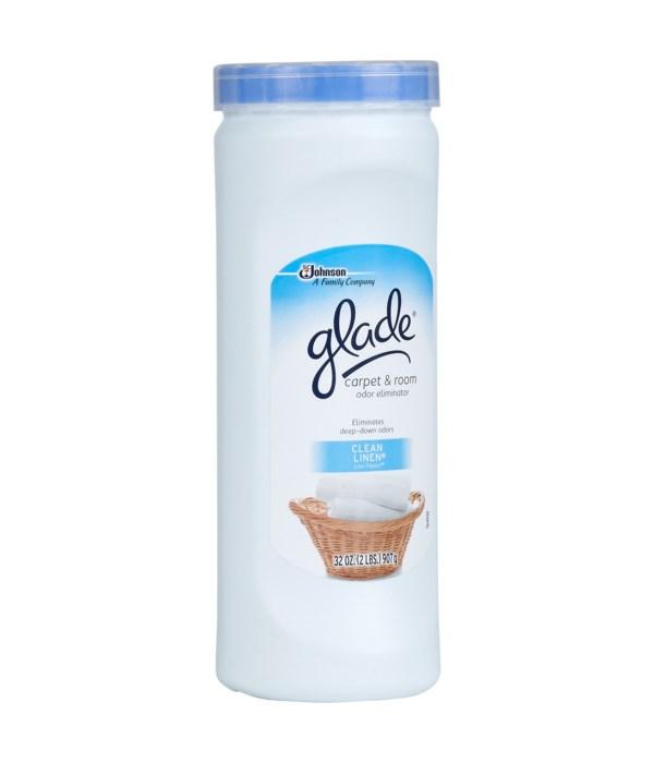 GLADE® CARPET CLEANSER 32 OZ - CLEAN LINEN -6/CS