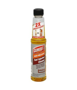 GUMOUT® FUEL INJECTOR CLEANER 6oz- HIGH MILEAGE- 12/CS