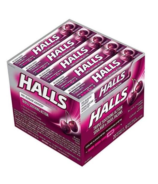 HALLS 20's BLACK CHERRY