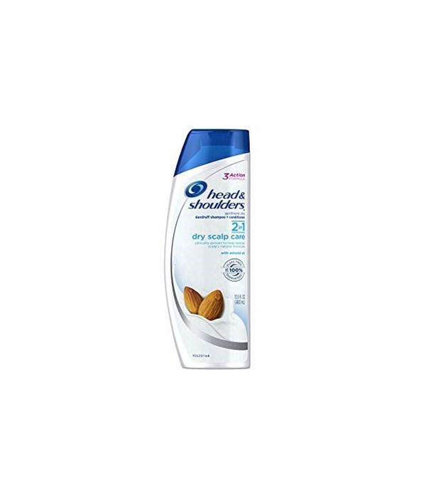 HEAD & SHOULDER® SHAMPOO 13.5 OZ  (2 IN 1 )- DRY SCALP - 6/CS