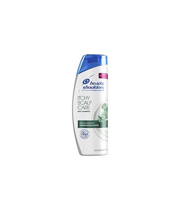 HEAD & SHOULDER® SHAMPOO 13.5 OZ  (2 IN 1 )- ITCHY SCALP CARE - 6/CS