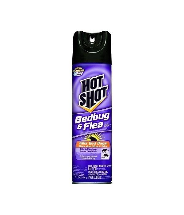 HOT SHOT® 17.5 OZ  BEDBUG & FLEA KILLER - 12/CS (96114) (96440)