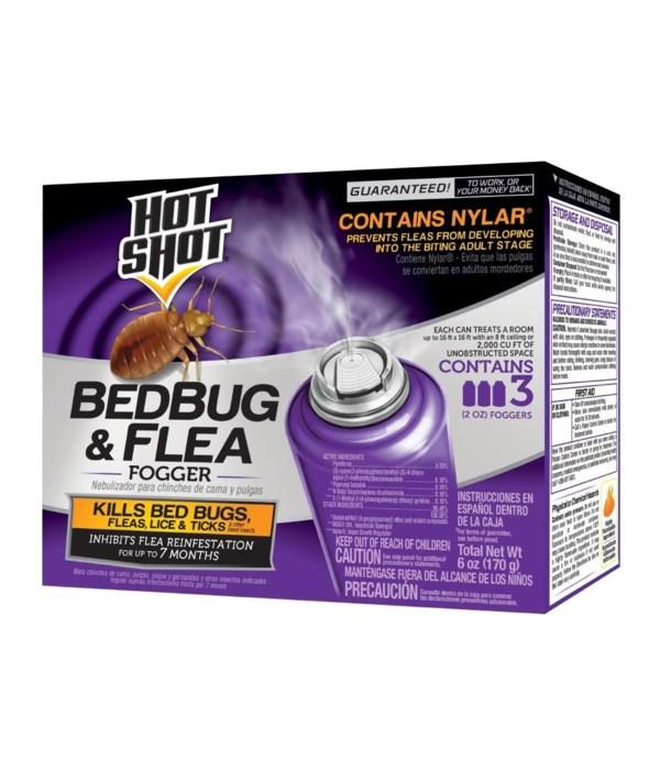 HOTSHOTS® 2 OZ BED BUG & FLEA KILLER FOGGER 6/3PK- (95911)