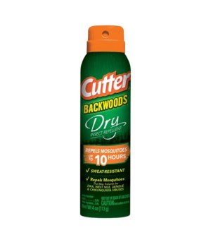 CUTTER® 4 Oz DRY INSECT REPELLENT AEROSOL SPRAY- 12/CS