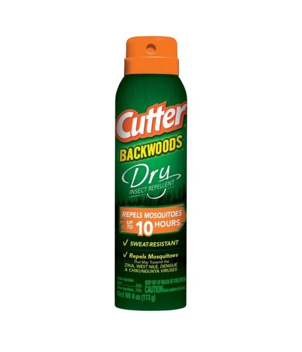 CUTTER® 4 Oz DRY INSECT REPELLENT AEROSOL SPRAY- 12/CS